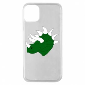 Phone case for iPhone 11 Pro Green dinosaur head - PrintSalon