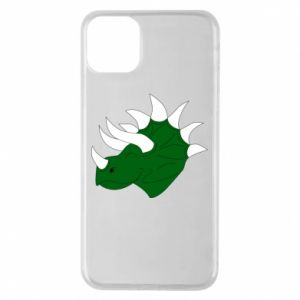 Phone case for iPhone 11 Pro Max Green dinosaur head - PrintSalon