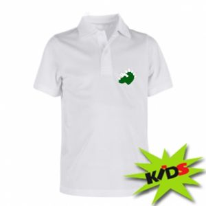 Children's Polo shirts Green dinosaur head