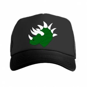 Trucker hat Green dinosaur head