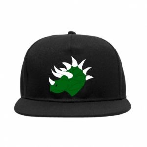 SnapBack Green dinosaur head