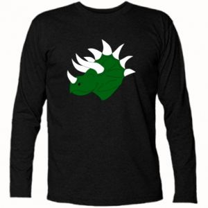 Long Sleeve T-shirt Green dinosaur head - PrintSalon