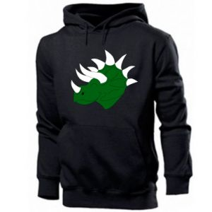 Men's hoodie Green dinosaur head - PrintSalon