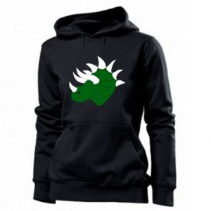 Women's hoodies Green dinosaur head - PrintSalon