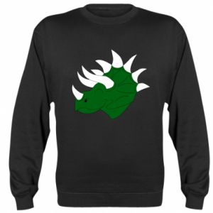 Sweatshirt Green dinosaur head - PrintSalon