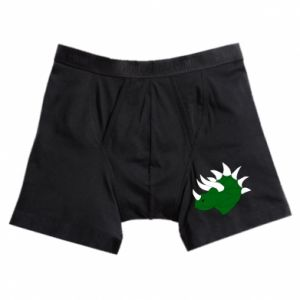 Boxer trunks Green dinosaur head - PrintSalon