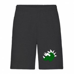 Men's shorts Green dinosaur head - PrintSalon