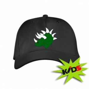 Kids' cap Green dinosaur head - PrintSalon