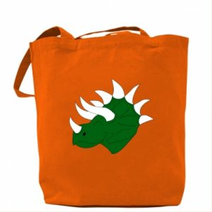 Bag Green dinosaur head