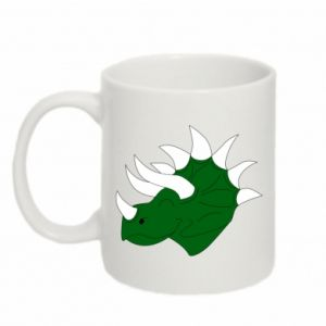 Mug 330ml Green dinosaur head - PrintSalon