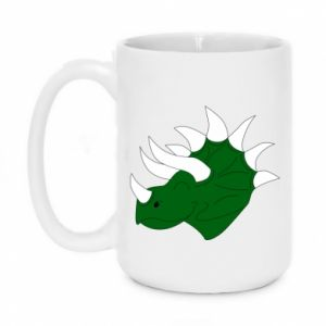 Mug 450ml Green dinosaur head - PrintSalon