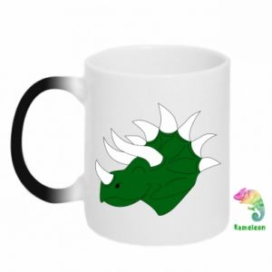 Chameleon mugs Green dinosaur head - PrintSalon