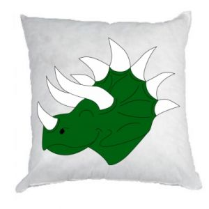 Pillow Green dinosaur head - PrintSalon
