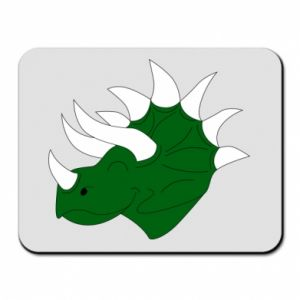 Mouse pad Green dinosaur head - PrintSalon