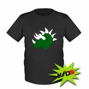 Kids T-shirt Green dinosaur head - PrintSalon