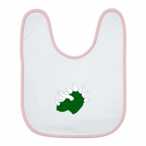 Bib Green dinosaur head