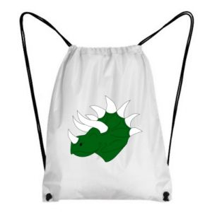 Backpack-bag Green dinosaur head