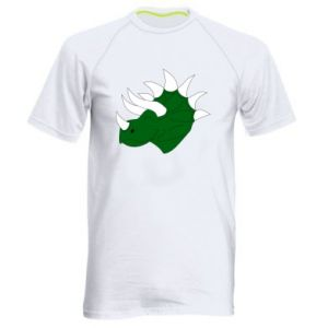 Men's sports t-shirt Green dinosaur head - PrintSalon