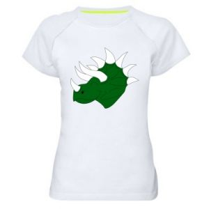 Women's sports t-shirt Green dinosaur head - PrintSalon