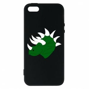 Phone case for iPhone 5/5S/SE Green dinosaur head - PrintSalon