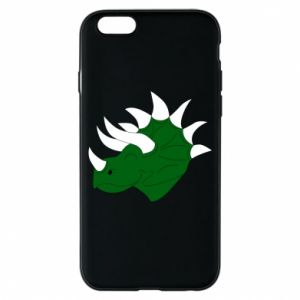 Phone case for iPhone 6/6S Green dinosaur head - PrintSalon