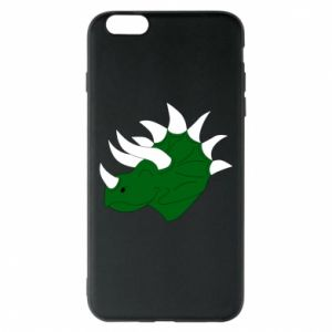 Phone case for iPhone 6 Plus/6S Plus Green dinosaur head - PrintSalon