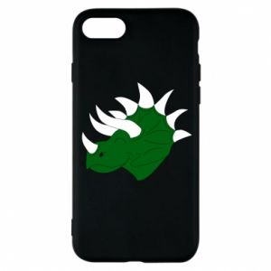 Phone case for iPhone 7 Green dinosaur head - PrintSalon