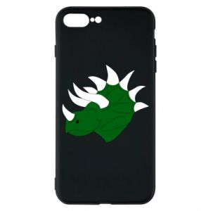 Phone case for iPhone 7 Plus Green dinosaur head - PrintSalon