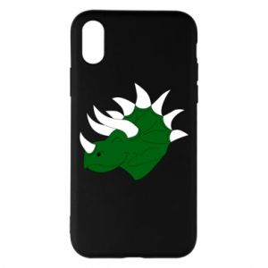 Phone case for iPhone X/Xs Green dinosaur head - PrintSalon
