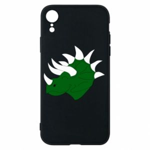 Phone case for iPhone XR Green dinosaur head - PrintSalon