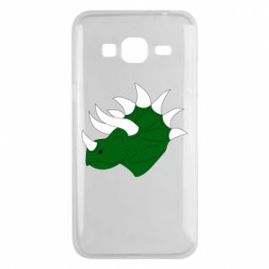 Phone case for Samsung J3 2016 Green dinosaur head - PrintSalon