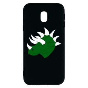 Phone case for Samsung J3 2017 Green dinosaur head - PrintSalon