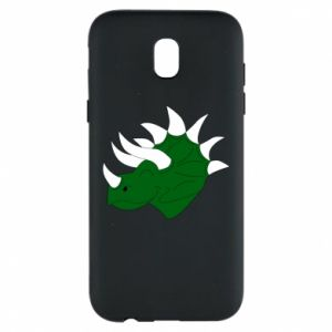 Phone case for Samsung J5 2017 Green dinosaur head - PrintSalon