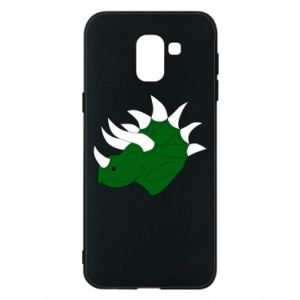 Phone case for Samsung J6 Green dinosaur head - PrintSalon