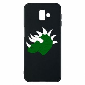 Phone case for Samsung J6 Plus 2018 Green dinosaur head - PrintSalon