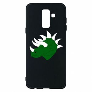 Phone case for Samsung A6+ 2018 Green dinosaur head - PrintSalon