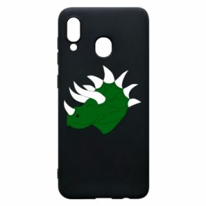 Phone case for Samsung A20 Green dinosaur head - PrintSalon