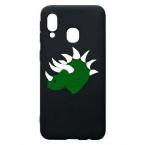 Phone case for Samsung A40 Green dinosaur head - PrintSalon