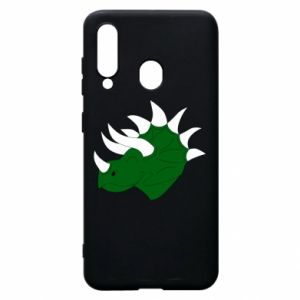 Phone case for Samsung A60 Green dinosaur head - PrintSalon