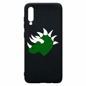 Phone case for Samsung A70 Green dinosaur head - PrintSalon