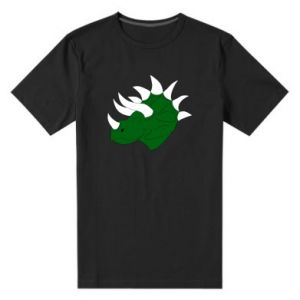 Men's premium t-shirt Green dinosaur head