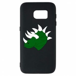 Phone case for Samsung S7 Green dinosaur head - PrintSalon