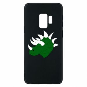 Phone case for Samsung S9 Green dinosaur head - PrintSalon