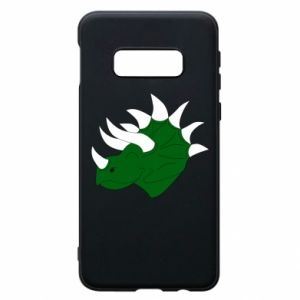 Phone case for Samsung S10e Green dinosaur head - PrintSalon