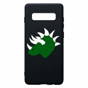 Phone case for Samsung S10+ Green dinosaur head - PrintSalon