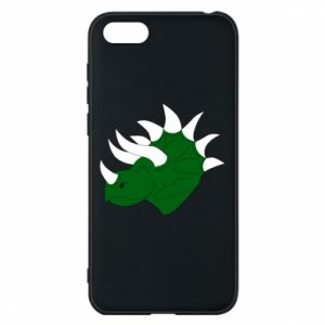 Phone case for Huawei Y5 2018 Green dinosaur head - PrintSalon