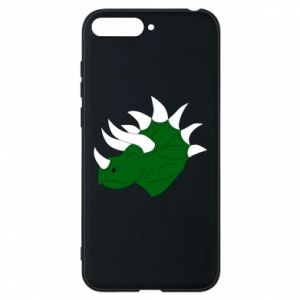 Phone case for Huawei Y6 2018 Green dinosaur head - PrintSalon