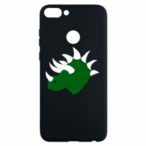 Phone case for Huawei P Smart Green dinosaur head - PrintSalon