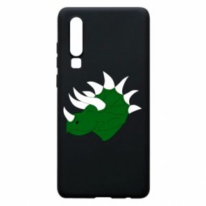 Phone case for Huawei P30 Green dinosaur head - PrintSalon