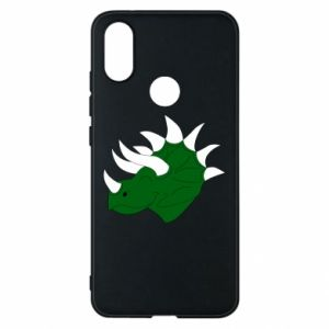 Phone case for Xiaomi Mi A2 Green dinosaur head - PrintSalon